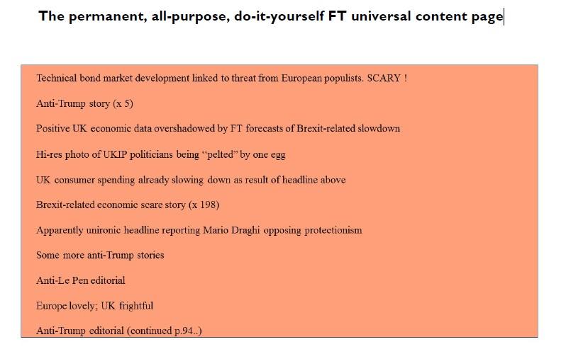 FT according to Tim Price